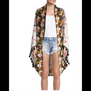 Free People Bali Wrapped in Blooms Shawl Kimono OS
